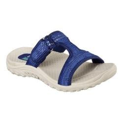 Women's Skechers Reggae Desert Escape Slide Sandal Navy