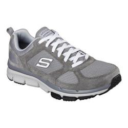 Men's Skechers Relaxed Fit Optimizer Lace Up Gray