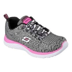 Girls' Skechers Relaxed Fit Valeris Kool Thing Sneaker Black/White/Pink