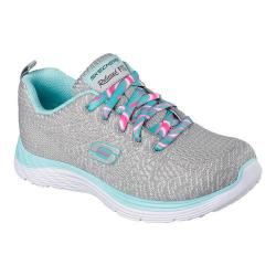 Girls' Skechers Relaxed Fit Valeris Kool Thing Sneaker Gray/Mint