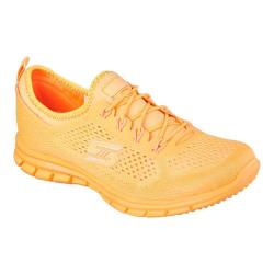 Women's Skechers Stretch Fit Glider Lace Up Orange