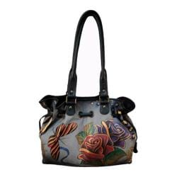 Women's ANNA by Anuschka Draw-String Tote 8050 Rose Safari Grey