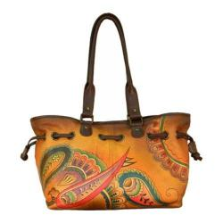 Women's ANNA by Anuschka Draw-String Tote 8050 Royal Paisley