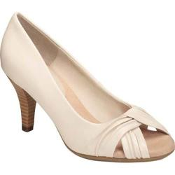 Women's A2 by Aerosoles Deluxe Peep Toe Pump Bone Faux Leather