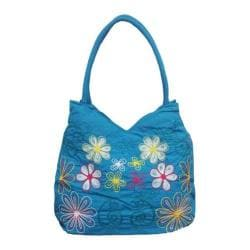 Women's Bamboo54 Hobo Embroidered Bag Blue 7