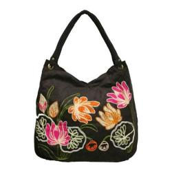 Women's Bamboo54 Hobo Embroidered Bag Brown 1