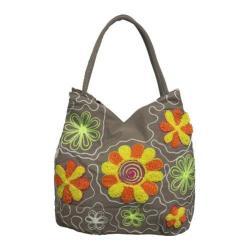 Women's Bamboo54 Hobo Embroidered Bag Tan 2