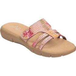 Women's A2 by Aerosoles Serenwipity Slide Sandal Pink Floral Print Faux Leather