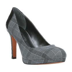 Women's Franco Sarto Sheena Pump Grey/Black Plaid Fabric/Crochet Synthetic