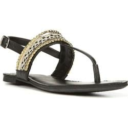 Women's Fergalicious Frazzle Sandal Black Synthetic Leather