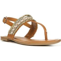 Women's Fergalicious Frazzle Sandal Tan Synthetic Leather