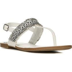 Women's Fergalicious Frazzle Sandal White Synthetic Leather