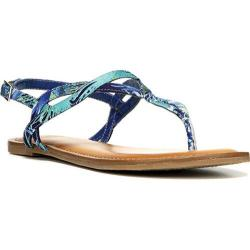 Women's Fergalicious Sunday Sandal Navy Floral Fabric