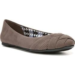 Women's Fergalicious Whitney Ballerina Flat Dark Grey Fabric