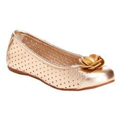 Girls' Hanna Andersson Ursula Ballet Flat Rose Gold PU Leather