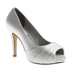 Women's Dyeables Bea Peep Toe Pump White Satin