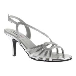 Women's Dyeables Caitlyn Strappy Slingback Sandal Silver Glitter