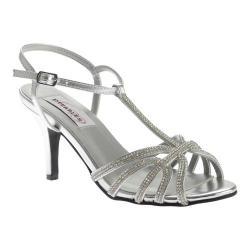 Women's Dyeables Lexi T-Strap Sandal Silver Metallic