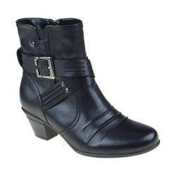 Women's Earth Odyssey Ankle Boot Black Calf Leather
