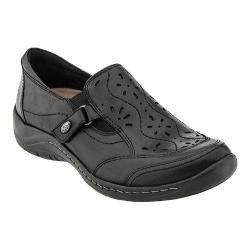 Women's Earth Ginseng Slip On Shoe Black Calf Leather