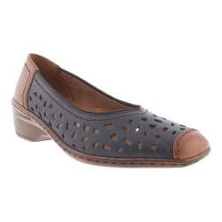 Women's Jenny by ara Rashida 51177 Slip-On Navy/Marrone Leather
