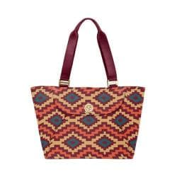 Women's baggallini ALB864 Gold Alberta Tote Aztec Berry