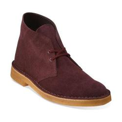 Men's Clarks Desert Boot Wine Suede