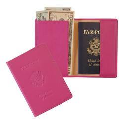 Royce Leather Debossed RFID Blocking Passport Jacket 204-5 Wildberry