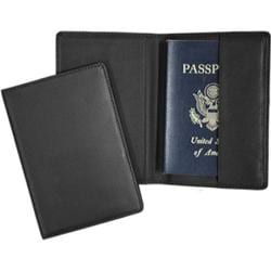 Royce Leather Plain Passport Jacket 200-5 Black Leather