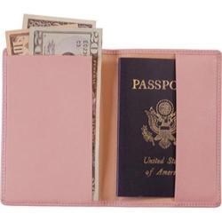 Royce Leather Plain Passport Jacket 200-5 Carnation Pink Leather
