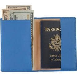 Royce Leather Plain Passport Jacket 200-5 Ocean Blue
