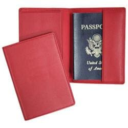 Royce Leather Plain Passport Jacket 200-5 Red Leather