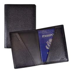 Royce Leather Saffiano Cowhide Passport Jacket Black