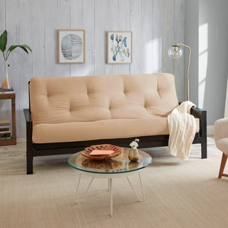 Queen Size 8-inch Khaki Suede Gel Memory Foam Futon Mattress