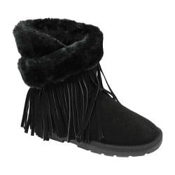 Girls' Lamo Fringe Wrap Boot Black