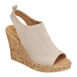 Women's Aerosoles World Traveler Wedge Sandal Natural Fabric
