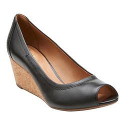 Women's Clarks Burmese Art Black Leather