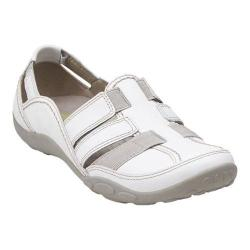 Women's Clarks Haley Stork Sandal White Leather