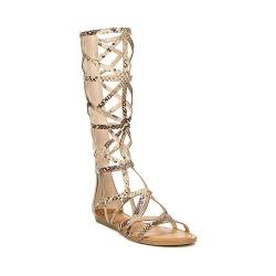 Women's Fergalicious Graceful Gladiator Sandal Natural Snake Synthetic Leather