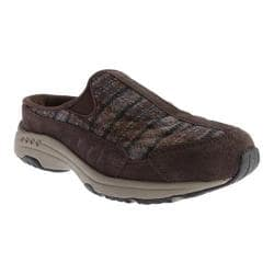 Women's Easy Spirit Traveltime Slip-on Dark Brown/Dark Brown Multi Suede