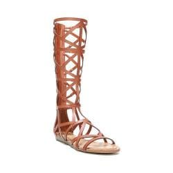 Women's Fergalicious Graceful Gladiator Sandal Dark Tan Synthetic Leather