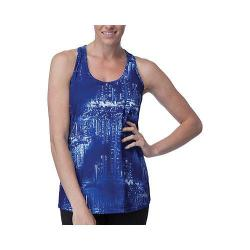 Women's Fila Breezy Loose Fit Tank Top Violet Blue City Lights Print