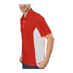Men's Fila Core Color Blocked Polo Chinese Red/White