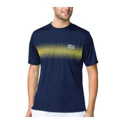 Men's Fila Core Tennis Printed Crew Blue Depths/Safety Yellow/Sky Blue