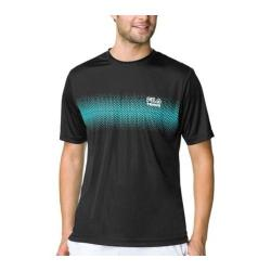 Men's Fila Core Tennis Printed Crew Nine Iron/Electric Green/White