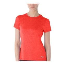 Women's Fila Heather Crew Neck Tee Cherry Tomato Heather
