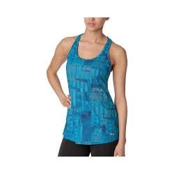Women's Fila Loose Fit Printed Tank Top Bright Teal/Navy Power
