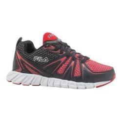 Boys' Fila Poseidon Running Shoe Black/Fila Red/White
