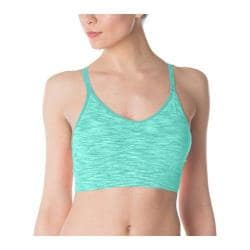 Women's Fila Seamless Space Dye Cami Bra Electric Green Space Dye/Electric Green
