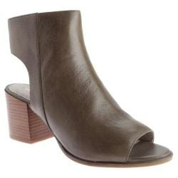 Women's Kenneth Cole New York Charlo Open Toe Bootie Truffle Leather